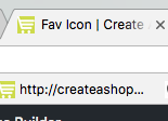 Favicon to your Create A Shoppe store
