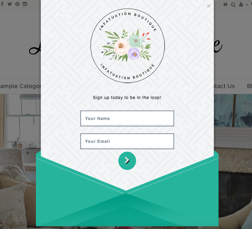 popup subscribe form style
